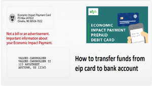 How to transfer funds from eip card to bank account